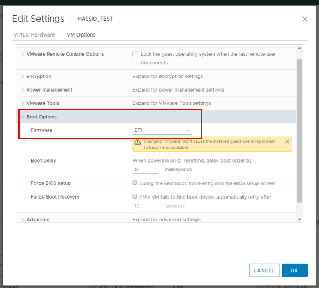 Deploying Home Assistant Hass io to ESXi 6 5 | Maniacal Methods